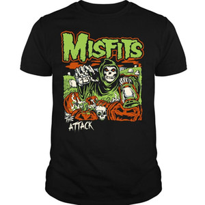 Misfits L'attacco T shirt Punk Rock Band T Shirt