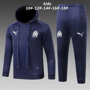 новые 19 20 Marseille дети футбол толстовки Ocampos 2019 2020 Sportwear джерси детей куртка Footballl Thauvin Germain мальчиков ветровка пальто