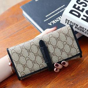 Factory wholesale women handbag new printed leather wallet belt decoration multifunctional women long wallet trend contrast leather storage