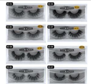 Imitado Mink cílios 20 estilos 3D Falso pestanas falsificadas Macio Natural Grosso cílios Eye Lashes 3D mink cílios falsos