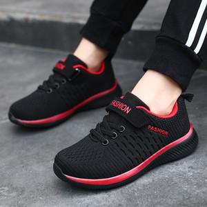 2020 Vente Lightweight enfants Chaussures de sport respirant Garçons Chaussures Chaussures Casual Chaussures fille volant tricot Zapatillas enfants non collectrices