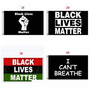 3 * 5ft I Cant respirare Bandiere banner 90 * 150cm neri Abita Matter Bandiera Banner non posso respirare lettera stampata poliestere Bandiere DBC BH3836