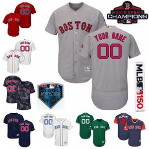 Baseball 16 Andrew Benintendi Jersey 50 Mookie Betts 28 JD Martinez 11 Rafael Devers 19 Jackie Bradley Jr. 2 Xander Bogaerts Nome personalizado
