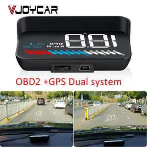 utomobiles & Motorcycles Car Universal Dual System HUD Head Up Display OBD II GPS Interface Vehicle Speed MPH KM h Engine RPM OverSpeed W...