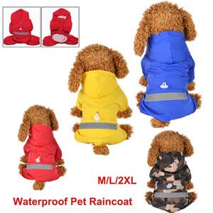 Marca nuevo perro perrito del animal doméstico del impermeable impermeable concede la chaqueta con capucha linda del perro ropa al aire libre sudaderas con capucha del impermeable