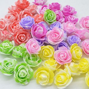 200Pcs Mini Foam Rose Flower Head Artificial Rose Flowers Handmade DIY Wedding Home Decoration Festive & Party Supplies