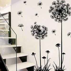 Mordern одуванчика стикер стены Съемный Art Vinyl Цитата DIY одуванчика стены наклейки наклейка Mural Home Decor Room