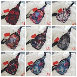 Adatti a donne esterno della cassa Bag Zipper stampa floreale Messenger Bag Sport Waist Belt Bag dell'adolescente Allievo tessuto Oxford Messenger Bags torace