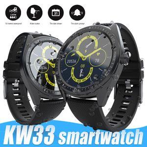 KW33 Smart Watch Männer IP68 wasserdichte Gesundheit Fitness Tracker Herzfrequenz-Monitor-Sport für Universal Android Smartwatches mit Kleinkasten