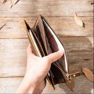monederos de la venta caliente para hombre Billetero mujer cartera cambiar la bolsa de la muñeca del monedero de mano de alta calidad con la caja