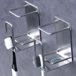 Paslanmaz Çelik Diş Fırçası Tutucu Punch Ücretsiz Duvara Monte Banyo Diş Fırçası Kupası Tutucular Ev Banyo Malzemeleri Raf DBC BH3219 Raf Diş Macunu