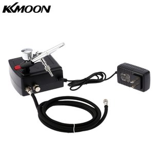 KKmoon100-240VProfessional Gravity-Feed Dual Action AIRB hetzen Air Compressor Kit für Kunst Malerei Maniküre Craft-Kuchen-Werkzeug-Spray