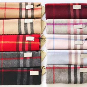 2019 Autunno Inverno Femminile lana Plaid donne sciarpa di cashmere Sciarpe larga Griglia a lungo dello scialle coperta calda Tippet