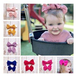 Neonate Bow archetto fascia Barrettes 2pcs Set Bambini nylon fascia per capelli Bambini Copricapo Boutique Accessori per capelli neonati Clip per capelli C6916