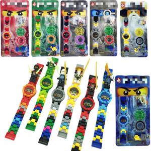 9 개 스타일 닌자와 Legoings 슈퍼 영웅 시계 Legoingly Ninjagoingly 빌딩 블록 벽돌 어린이 'S는 요괴 워치 장난감 HVrsC 피규어