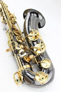 Margewate New Arrival Bb Tenor Saxophone Brass Black Nickel Gold Surface Sax Musical Instrument With Mouthpiece Free Shipping