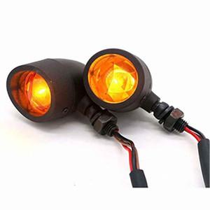 Heavy Duty Motorrad Blinker etwa Blinker gelbe Anzeige leuchtet Lampe (Schwarz)