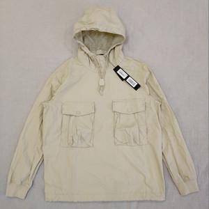 19ss 639F2 GHOST PEZZO SMOCK / ANORAK Cotone Nylon TELA Pullover Jacket Uomo Donna cappotti tuta sportiva di modo HFLSJK349