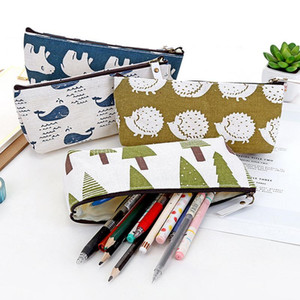Cute Pencil Case Canvas School Supplies Kawaii Stationery School Office Cute Pencil Box Pen Bags For Students Stationery Bag