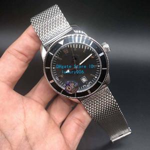 La vente super super océan II Montres-bracelets Cadran Noir AB201012 BF73 automatique Mens Watch Ocean Classic Montres Bracelet en acier inoxydable