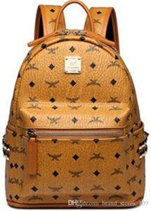 Frauen-Marken-Punkniet-Rucksack-Hand neuen Männer-School-Schüler Tasche hochwertiger Designer-Doppelschulter Rucksäcke Daypack bookbag