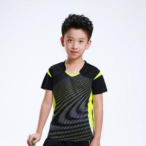 Stampa gratuita Bambini T-shirt da badminton Ragazzo, Ragazza sportiva Tuta da tennis, T-shirt da badminton Bambino Tennis AF006