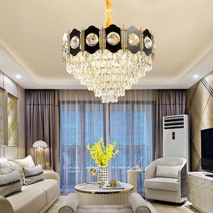 Новая коллекция современный K9 хрустальная люстра огни современный черный люстра освещение гостиной фойе спальня светодиодные подвесные светильники