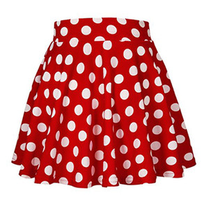 Women's Clothing Skirts Summer Wave point Mini Large Red skirt jupe Rock party pleated skirt jupes designer femmes black white blue yellow