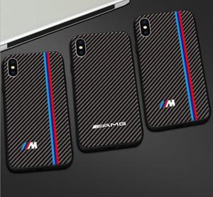 Fashio racing caso de la cubierta del deporte RS fibra de carbono para iPhone 6 7 8 S plus más X XS MAX XR 11 Pro max AMG BMW CAES teléfono para coche