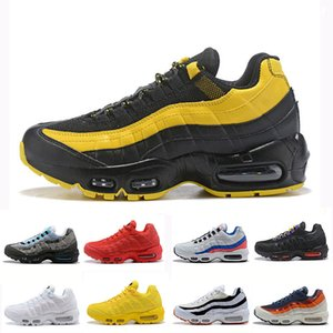 Barato chaussures Novos Homens Das Mulheres Tênis de Corrida OG Clássico Preto Vermelho Branco Trainer Superfície Almofada Respirável Esportes Sneakers36-46
