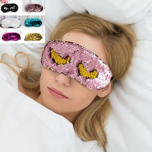 Paillettes Sleeping Mask Réglable Glitter Sirène Réversible Magique Sequin Eye Mask Party Masque Party Favors Pour Home Party Gift