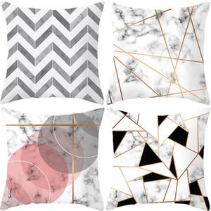 """Travesseiro de lance enchido algodão do teste padrão PP de mármore, coxim decorativo 18 """"x18"""" Travesseiro de lance quadrado do sofá para o carro do sofá do sofá, com inserço"""