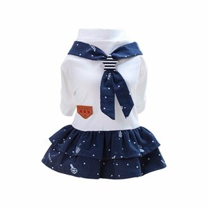 New Pet Dog Clothes Cute Navy Style Pet Cat Puppy Dog Couple Costume Summer Dog Pet Overalls Dress for Small Dogs Cats
