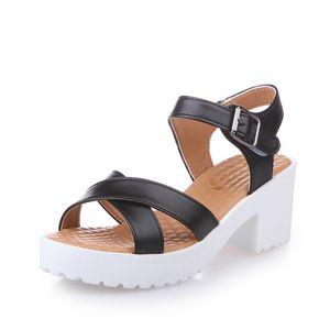2020 Summer Women Heel Sandals Shoes Women Wedges Platform Sandalias High Heels Strap Pumps Sandals Plus Size 35-44
