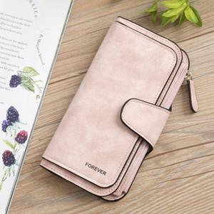Womens multi-funzione la Designer Leather Wallet piccole smerigliato grande capacità Portafoglio carta Pochette Fashion Trend Ladys Borsa