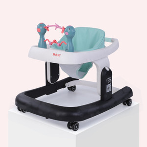 Multi-functional baby walker anti-rollover 6 files adjustable height foldable auxiliary baby toddler