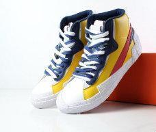 Waffle Sacai X Blazer high cut Overlapping Design Avant-garde Trailblazers high Joker Shoes mens Sacai Toki Slip casual sports shoes 7-11