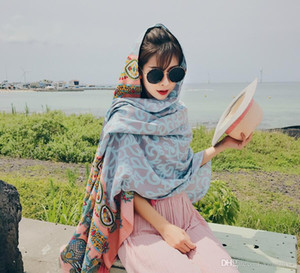 210*150cm 2017 Sexy Women Chiffon Scarf Bikini Summer Beach Swimwear Sarong Wrap Cover Dress Scarf Sunscreen Long Cape