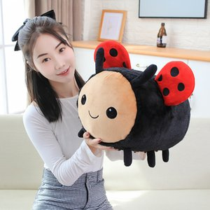Kawaii Fuzzy Bumblebee Plush Bee Pillow Stuffed Animals Plush Toys Cute Honey Bee Toys Ladybug Ladybird Soft Pillow Cushion