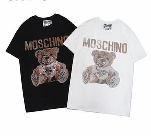 359 2019 티셔츠 여름 착용 밴드 화이트 T 남자 반팔 T 피티 퓨어 코튼 라운드 넥 패션 남자 티셔츠 그래픽 셔츠