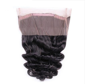 Бразильская Свободная Волна 360 Кружева Фронтальная Девственные Волосы Реми Волос Предварительно Сорвал Полный 360 Человеческих Волос