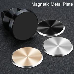 Chapeamento de ferro adesivos no suporte magnético do telefone do carro para xiaomi huawei universal placa de metal para o ímã de montagem para iphone 7