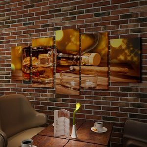 Pictures Set Decoration Whiskey And Cigar 100 X 50 Cm Wall Stickers