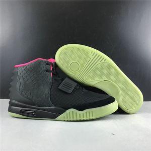 Schiff mit dem Kasten 2 NRG Schwarz Solar-Rot Basketball-Designer-Schuhe Comfort Kanye West rosa Mode Turnschuhe Ausgezeichnete Qualität Size40-47.5