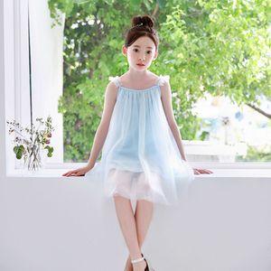 Летняя новая корейская версия большой девочки принцесса сетка юбка хлопок платье путешествия отпуск юбка