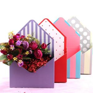 Caja de papel creativa flor plegable de cartón sobre de las flores Rosa de Jabon flor caja de regalo papel de regalo de boda suministros de embalaje DHB959