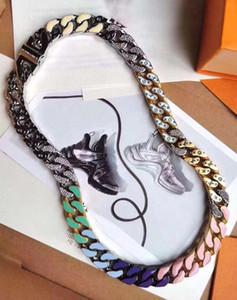 2020 Neueste Start Französisch Masters gestaltete Luxus-Männer und Frauen Armbänder Kettenglieder PATCHES Farbige Armband Halskette Schmuck