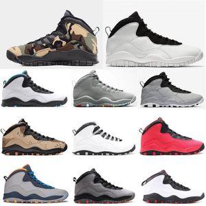 2020 Top Basketball Shoes 10s New NakeskinJordan10 Men Tinker Woodland Camo Cool Grey Back aj 1 Trainers Designer SneakersXxPn#