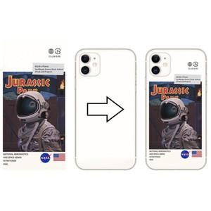 Funda telefónica TPU transparente de Silicone Soft DIY Caja de impresión UV personalizada para iPhone X 12 Pro Max para cubierta Samsung S20