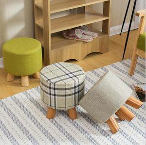 Schuhhocker licht luxus tuchkunst hocker wohnzimmer schuh sofa holzhügel familie kinderhocker bequemer sitzhocker
